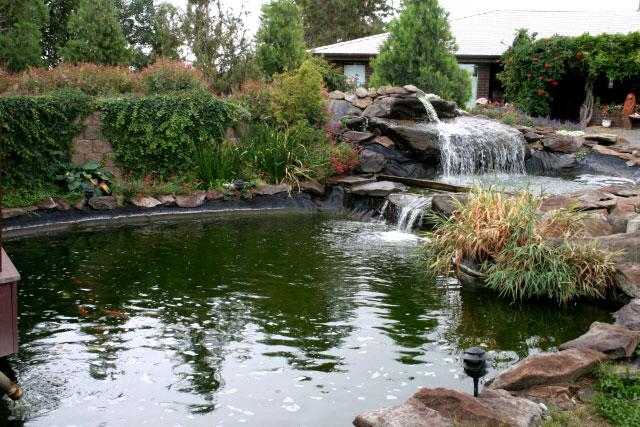 Spray line technologies sprayline technologies koi pond for Koi pond rock bottom